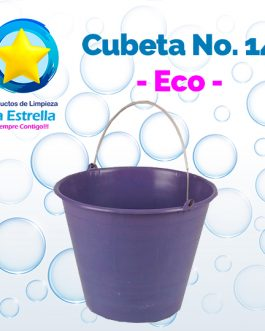 CUBETA PLASTICO #14 ECONOMICA