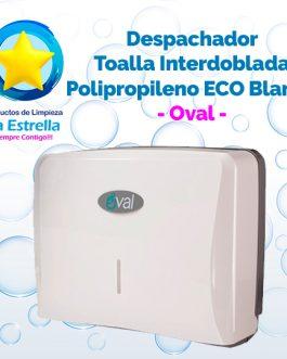 DESPACHADOR TOALLA INTERDOBLADA POLIPROPILENO ECO BLANCO // OVAL