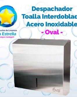 DESPACHADOR TOALLA INTERDOBLADA ACERO INOXIDABLE // OVAL