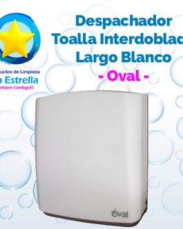 DESPACHADOR TOALLA INTERDOBLADA LARGO ABS BLANCO // OVAL