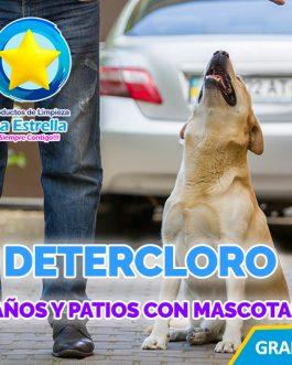DETERCLORO BAÑOS Y PATIOS C/MASCOTAS