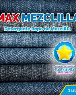 DETERGENTE MAX MEZCLILLA (ENVASADO 1 L.)