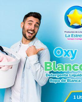 DETERGENTE OXY BLANCO (ENVASADO 1 L.)