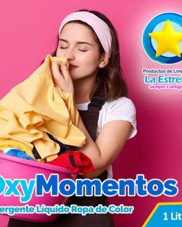 DETERGENTE OXY MOMENTOS (ENVASADO 1 L.)