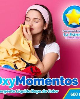 DETERGENTE OXY MOMENTOS (ENVASADO 600 ML)