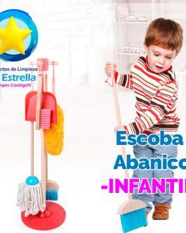ESCOBA ABANICO INFANTIL ***