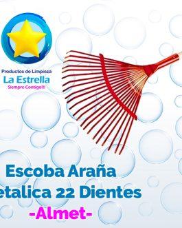 ESCOBA ARAÑA METALICA 22 DIENTES P/JARDIN***