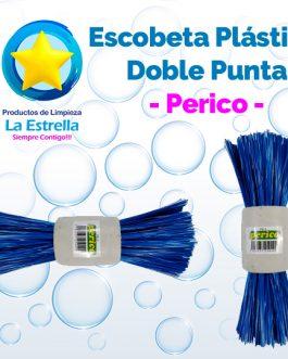 ESCOBETA PLASTICO DOBLE PUNTA // PERICO ***