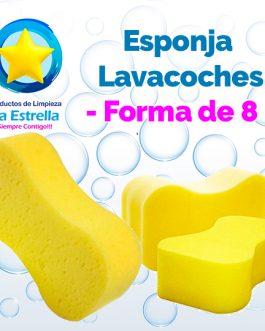 ESPONJA LAVACOCHES FORMA DE 8***
