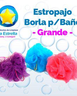 ESTROPAJO BORLA GRANDE P/BAÑO***