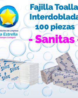 FAJILLA TOALLA INTERDOBLADA BLANCA 100 PZS // SANITAS **PIEZA**