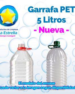 GARRAFA PET 5 L. NUEVA