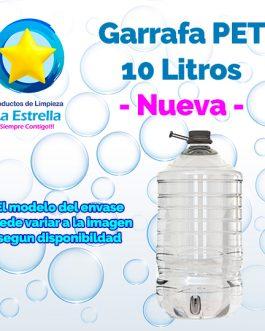 GARRAFA PET 10 LITROS NUEVA