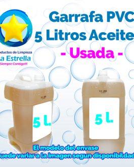 GARRAFA PVC 5 L ACEITERA USADA
