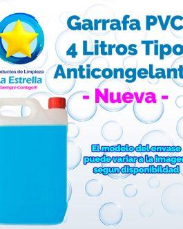 GARRAFA PVC 4 L. TIPO ANTICONGELANTE NUEVA