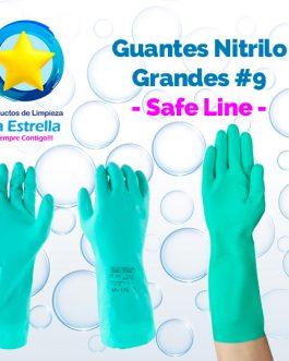 GUANTES DE NITRILO GRANDES # 9 // SAFELINE