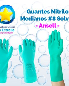 GUANTES SOLVEX NITRILO MEDIANOS # 8 // ANSELL