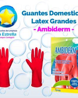 GUANTES DOMESTICOS LATEX GRANDES // AMBIDERM