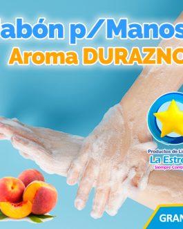 JABON LIQUIDO ANTIBACTERIAL P/MANOS AROMA DURAZNO