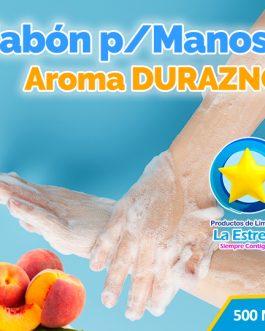 JABON LIQUIDO ANTIBACTERIAL P/MANOS AROMA DURAZNO (EMBOLSADO 500ML)