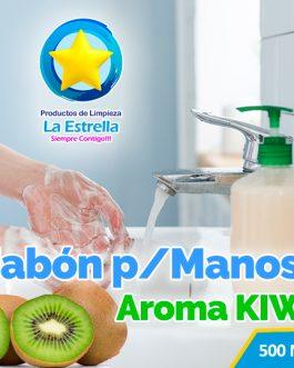 JABON LIQUIDO ANTIBACTERIAL P/MANOS AROMA KIWI (EMBOLSADO 500ML)