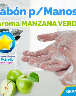 JABON LIQUIDO ANTIBACTERIAL P/MANOS AROMA MANZANA VERDE