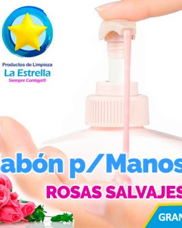 JABON LIQUIDO ANTIBACTERIAL P/MANOS AROMA ROSAS SALVAJES
