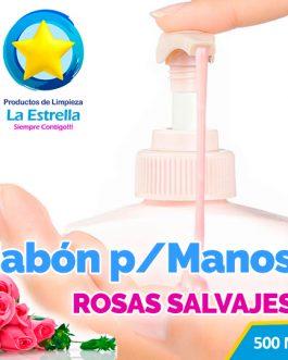 JABON LIQUIDO ANTIBACTERIAL P/MANOS AROMA ROSAS SALVAJES (EMBOLSADO 500ML