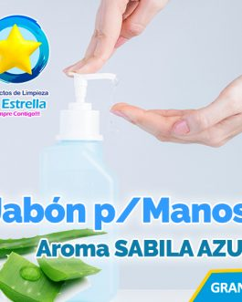 JABON LIQUIDO ANTIBACTERIAL P/MANOS AROMA SABILA AZUL