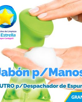 JABON LIQUIDO P/MANOS NEUTRO ANTIBACTERIAL P/JABONERA DE ESPUMA