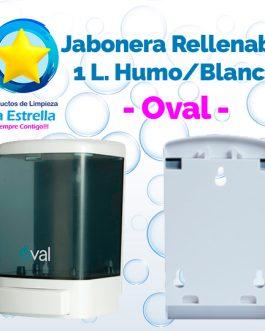 JABONERA RELLENABLE 1 L. HUMO CON BLANCO // OVAL