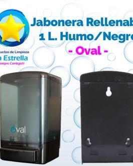 JABONERA RELLENABLE 1 L. HUMO CON NEGRO // OVAL