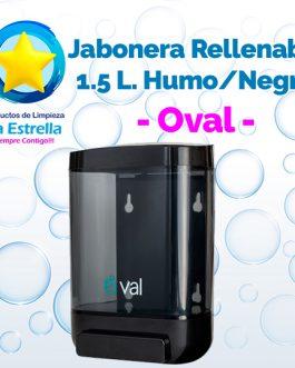 JABONERA RELLENABLE 1.5 L. HUMO CON NEGRO // OVAL