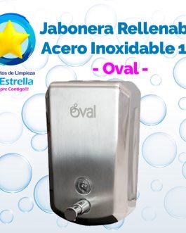 JABONERA RELLENABLE ACERO INOXIDABLE 1 L. // OVAL