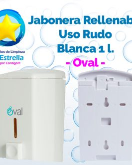 JABONERA RELLENABLE USO RUDO 1 L. BLANCA // OVAL