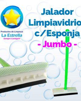 JALADOR LIMPIAVIDRIOS C/ESPONJA 20 CMS / JUMBO***