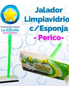 JALADOR LIMPIAVIDRIOS C/ESPONJA 20 CMS / PERICO***