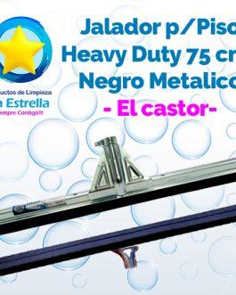 JALADOR P/PISOS HEAVY DUTY NEGRO METALICO 75 CMS (SIN BASTON) // MOERMAN – EL CASTOR