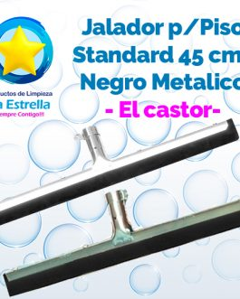 JALADOR P/PISOS STANDARD NEGRO METALICO 45 CMS (SIN BASTON) // MOERMAN – EL CASTOR