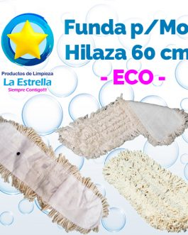 MOP FUNDA HILAZA BLANCA 60 CMS ***