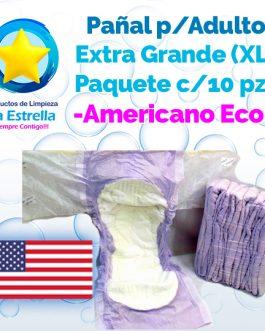 PAÑAL ADULTO EXTRA GRANDE – XL (PAQ. 10 PZS) // AMERICANO ECONÓMICO