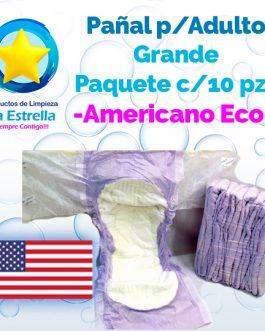 PAÑAL ADULTO GRANDE (PAQ. 10 PZS) // AMERICANO ECONÓMICO