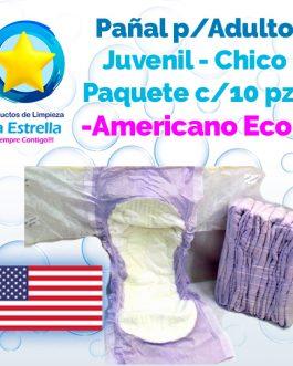 PAÑAL ADULTO JUVENIL-CHICO (PAQ. 10 PZS) // AMERICANO ECONÓMICO