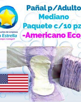 PAÑAL ADULTO MEDIANO (PAQ. 10 PZS) // AMERICANO ECONÓMICO
