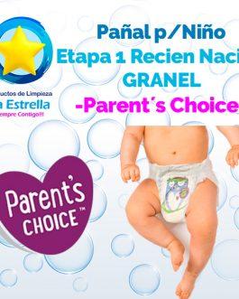 PAÑAL NIÑO ETAPA 1 – RECIEN NACIDO GRANEL // PARENT´S CHOICE