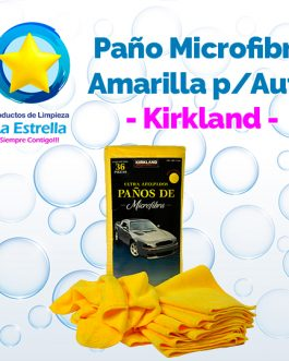 PAÑO MICROFIBRA AMARILLO P/AUTO 40X40 CMS
