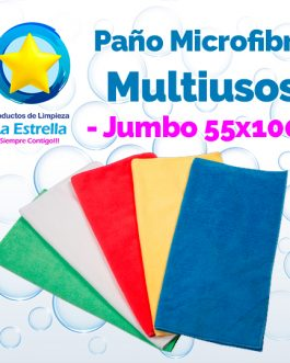 PAÑO MICROFIBRA MULTIUSOS JUMBO ECO 55X100 CMS