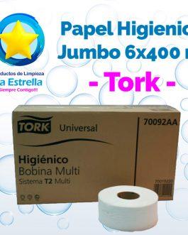 PAPEL HIGIENICO INSTITUCIONAL JUMBO 6×400 MTS // TORK **CAJA**