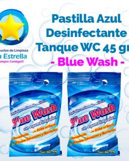 PASTILLA AZUL DESINFECTANTE P/TANQUE WC 45 GRS. // BLUE WASH