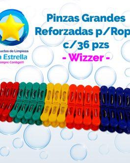 PINZAS GRANDES REFORZADAS P/ROPA 36 PZS // WIZZER***